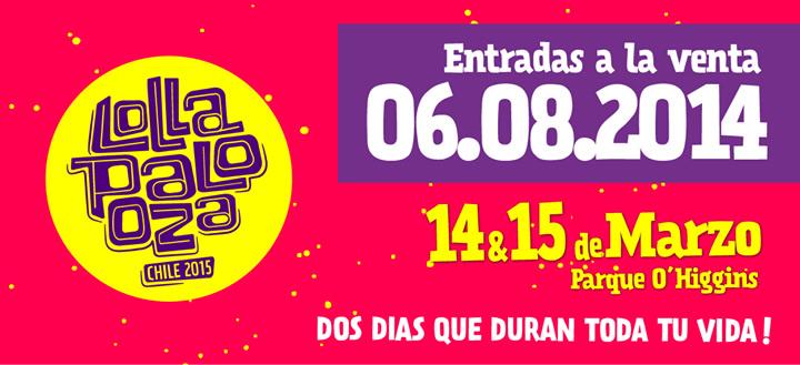Lollapalooza Chile 2015: Hoy se vendieron 55 mil entradas