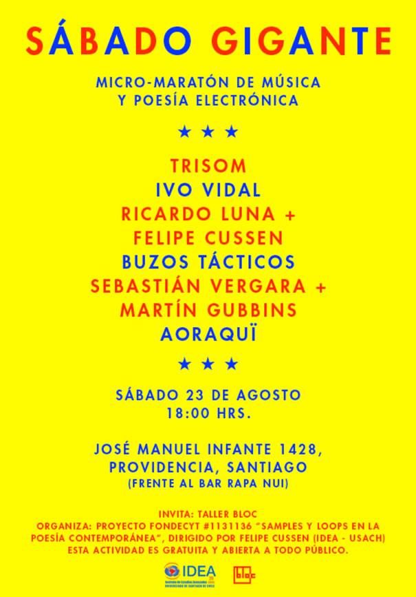 Sábado Gigante: Maratón de música y poesía electrónica