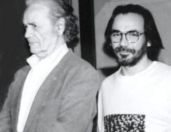 Nicanor Parra y Tilo González en 1992